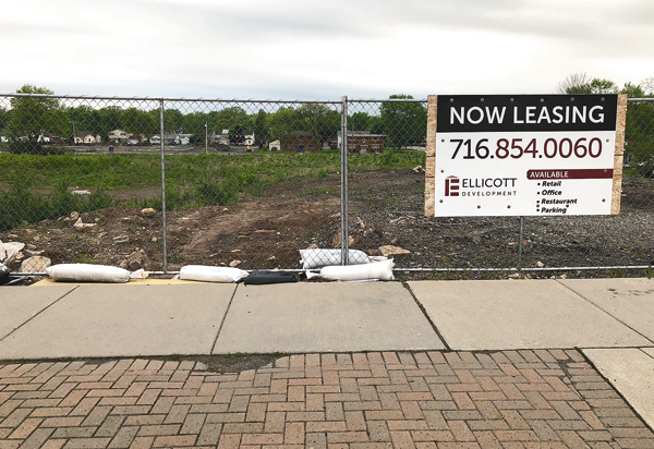 Shown is part of the vacant land where a plaza is expected to be built at Center, North Eighth and Onondaga streets.