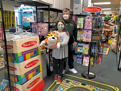 Abigail and Greg Robertson of Greg's Pools and Abbi's Toy Corner