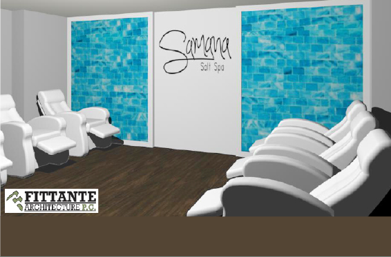 Samana Salt Spa salt room rendering by Fittante Architecture PC.