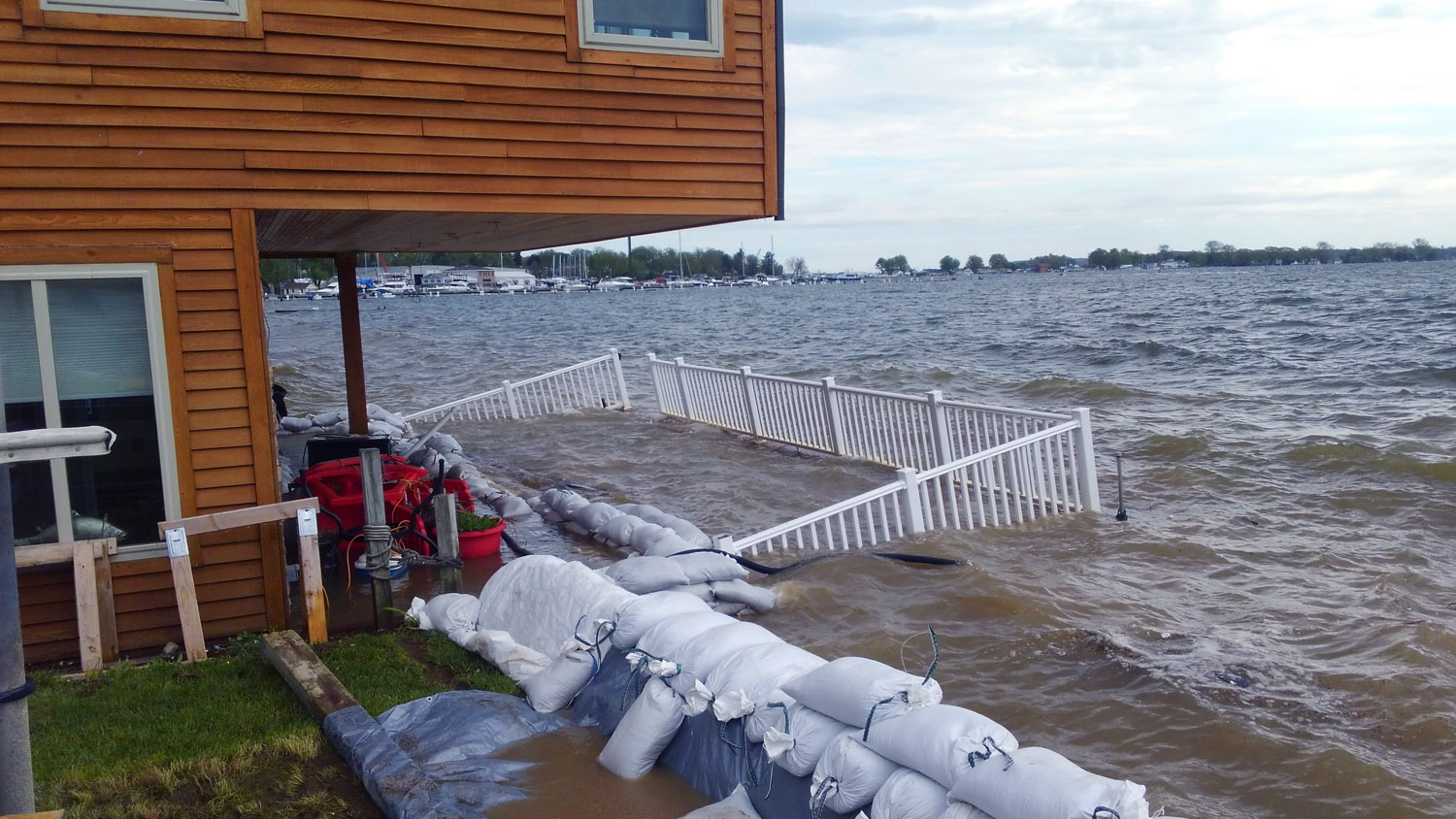 Flooding along Lake Ontario in 2017. (Photo: Coastal Flooding Survey Project, Cornell University/New York Sea Grant)