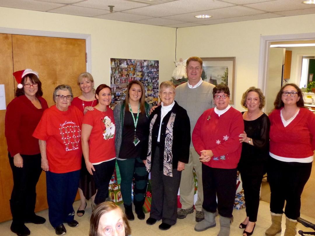 Pictured, from left: MaryAnn Wittcop and Terry Jones of the Lewiston Senior Center; Mary Farmham with the Niagara County Office for the Aging; Erin Myers and Emily Brook of Lewiston-Porter; Sister Beth Brosmer of Heart, Love & Soul Food Pantry; Town of Lewiston Supervisor Steve Broderick; and Diana Paonessa, Jeanette Collesano and Paula Siejak of the Lewiston Senior Center.