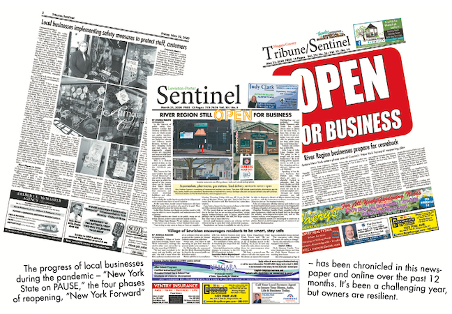 The progress of local businesses during the pandemic - `New York State on PAUSE,` the four phases of reopening, `New York Forward` - has been chronicled in this newspaper and online over the past 12 months. It's been a challenging year, but owners are resilient.