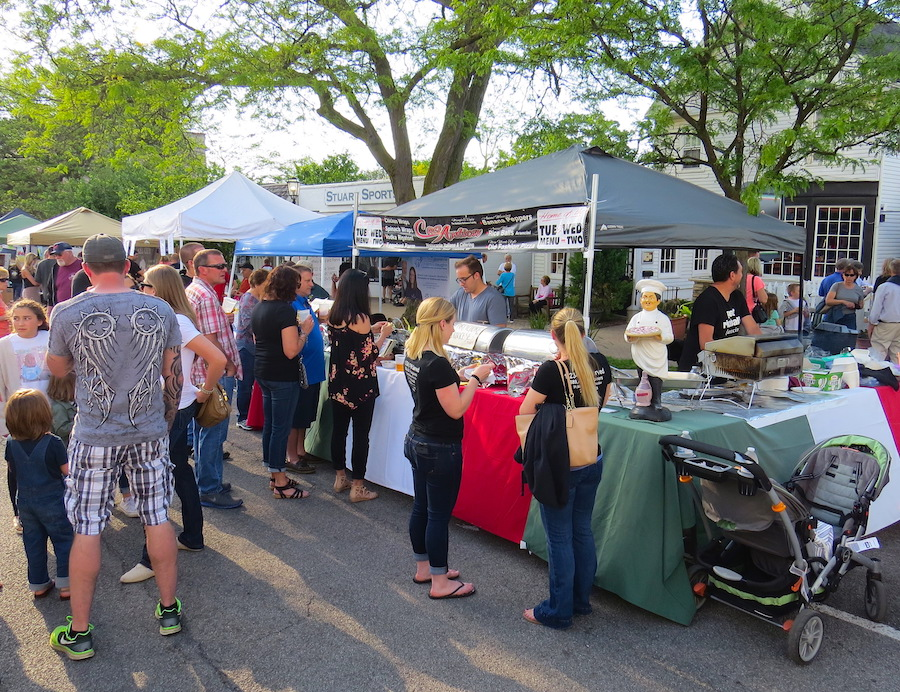 A crowd dines in front of Casa Antica at the 2017 `A Taste of Lewiston.`