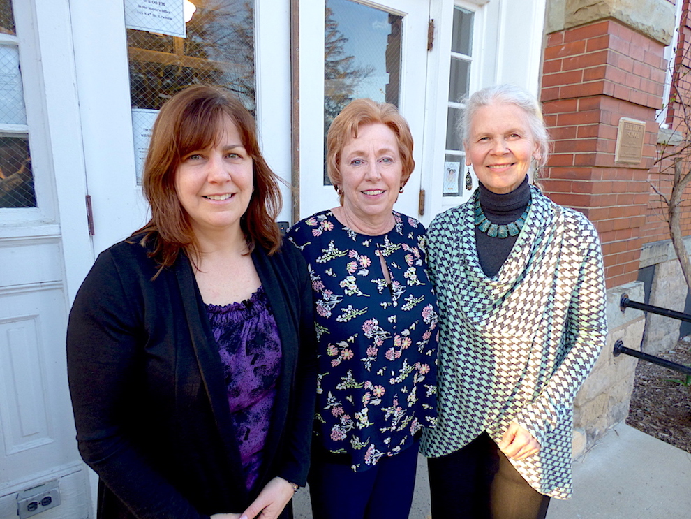 Pictured, from left, are Democrat Party candidates Tina Coppins, Anne Welch and Claudia Marasco.