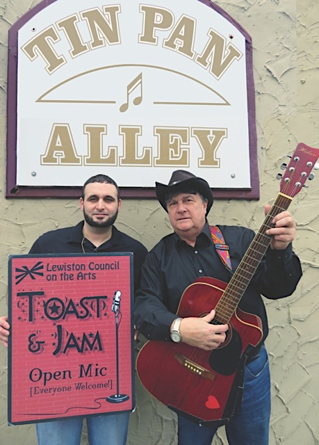 Tin Pan Alley owner Bill Castiglione, left, with `Toast & Jam` host Dale Campbell.