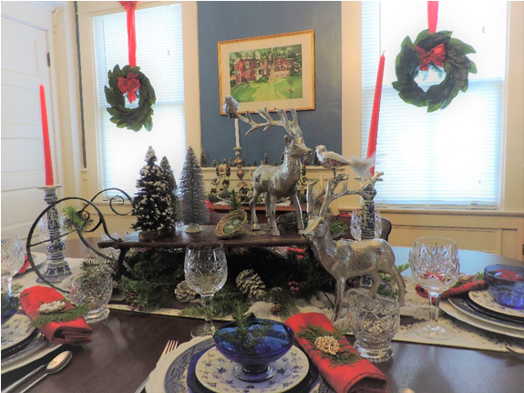 Pictured is a tablescape from the 2018 Tour of Homes.