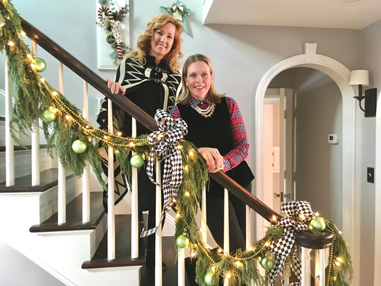 Decorator Fay Bailey of Fay Bailey Designs, left, is shown with homeowner Julie Berrigan, executive director of the Mount St. Mary's Hospital Foundation.
