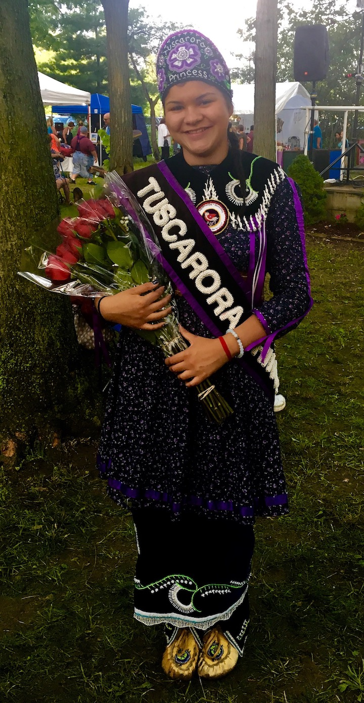Tuscarora Princess Quinna Hamby is shown after being crowned.
