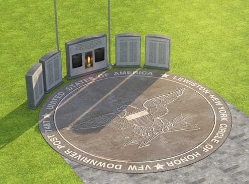 Shown is an artist's rendering of the VFW Downriver Post No. 7487 `Circle of Honor.` (Image courtesy of the VFW)