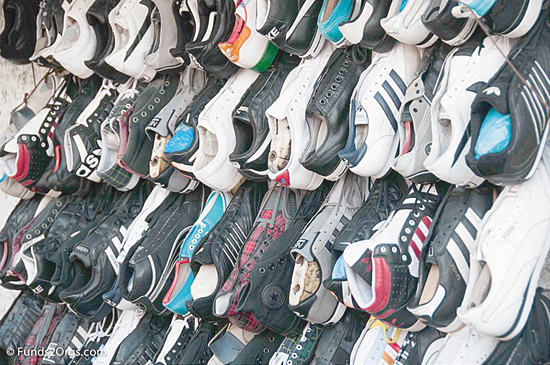 Shoes of shapes and sizes collected this far. (Submitted photos).
