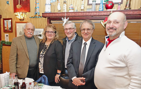 The Sentinel's outgoing ad rep, Phil Buffone, at right, is shown with (from left) Niagara County First District Legislator Clyde Burmaster, YBPA President Cheryl Butera, Secretary Mark Butera and Treasurer Steve Zastrow. (Photo by Kevin Cobello, K&D Action Photo and Aerial Imaging)