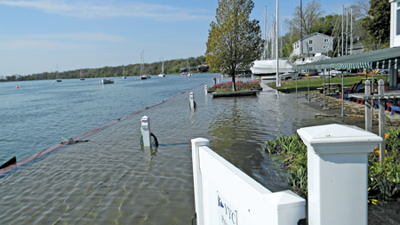 A look at the flooded Youngstown Yacht Club (file photo)