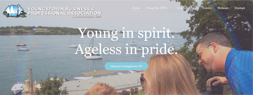 A screen grab of the new Youngstown website courtesy of Lewiston Digital.