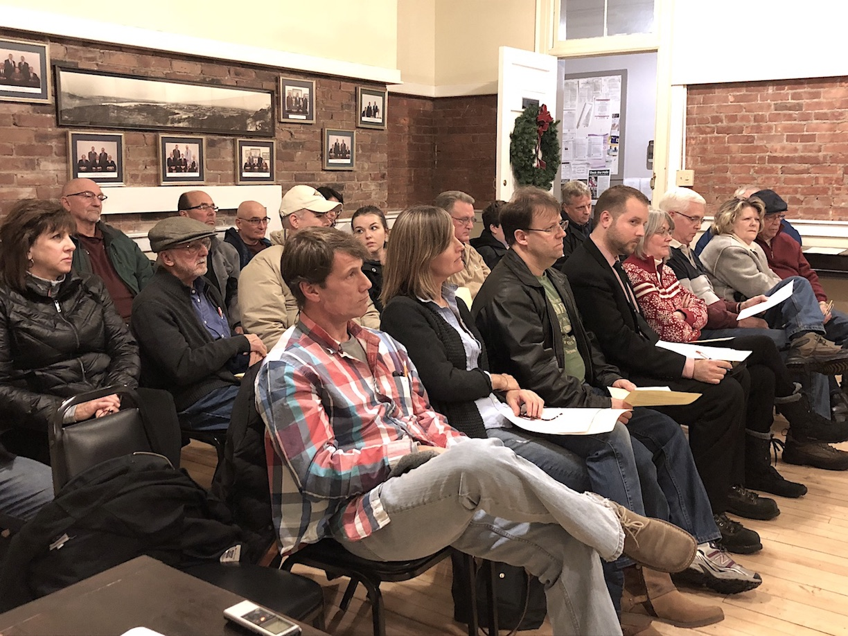 Residents gathered Tuesday to oppose a variance request.