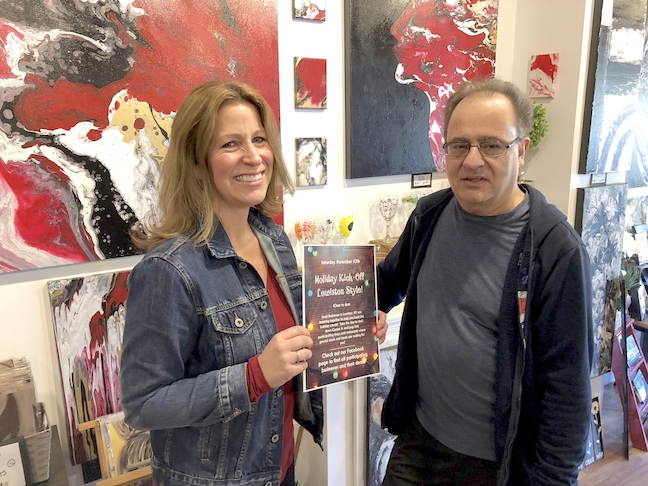 Kathy Pignatora of Inspirations on Canvas chats with Roger Passero of Viva Nostalgia. `Holiday Kick-Off Lewiston Style` is set for Saturday, Nov. 10.