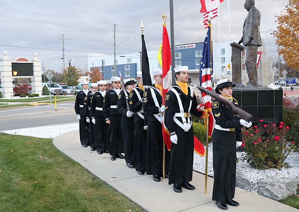 Pictured is the color Guard from last year of the United States Naval Sea Cadets The Sullivan's Division.