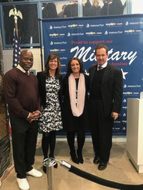 From left: Erie County Legislator Howard Johnson Jr.; Elena Mendel, National Fuel Gas Co.'s principal accounting officer and a board member of the National Fuel Gas Co. Foundation; Explore & More CEO Michelle Urbanczyk; and Congressman Brian Higgins.