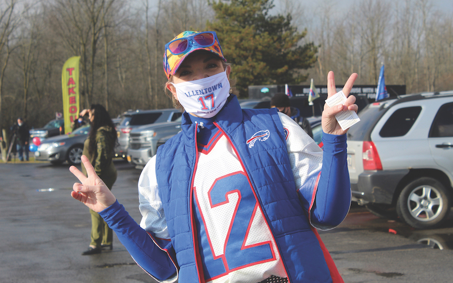 A participant from last Saturday's Buffalo Bills parade on Grand Island.