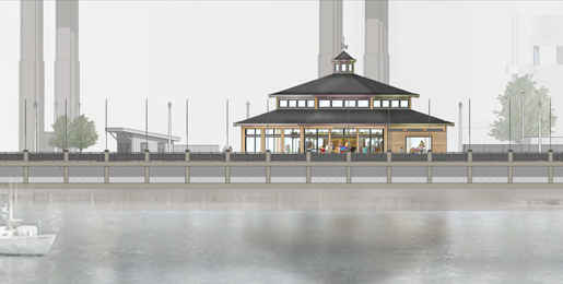 An artist's rendering of the Buffalo Heritage Carousel project at Canalside, courtesy of Empire State Development.