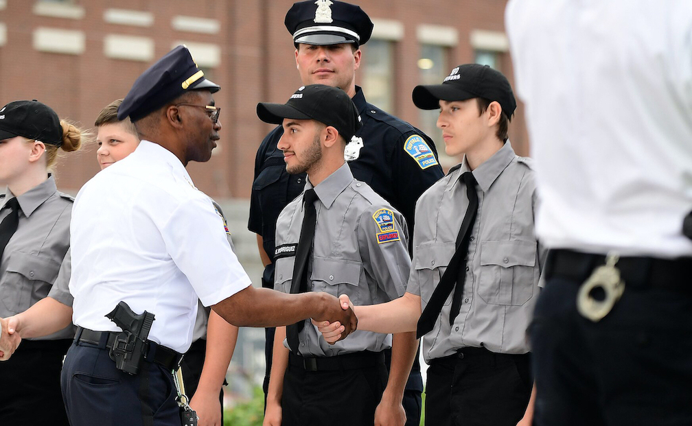 Buffalo Police Explorers work with the Buffalo Police Department to give back to the local community. (Images courtesy of Insight International USA)
