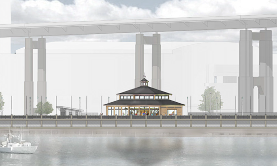 Carousel building rendering courtesy of Erie Canal Harbor Development Corp.