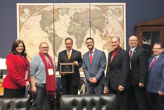 Congressman Brian Higgins meets with members of the National Hemophilia Foundation.