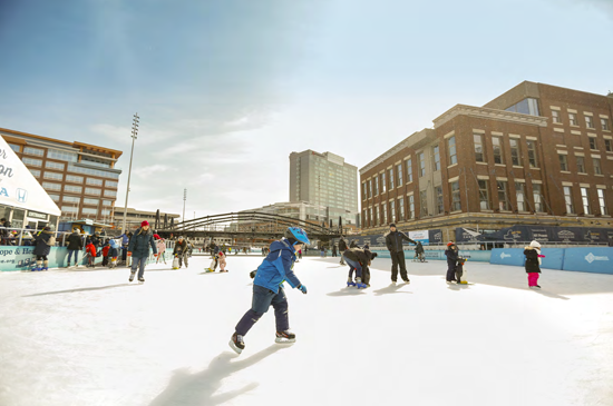 The Ice at Canalside (Photo courtesy of Erie Canal Harbor Development Corp.)
