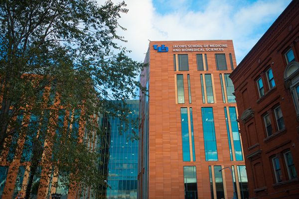 The Excelsior Award, which the Jacobs School of Medicine and Biomedical Sciences building has won, is part of a program created to highlight design excellence in publicly funded architecture in New York State. Only projects that were either completely or partially funded by New York state are eligible for this award. (Credit: Douglas Levere, University at Buffalo)