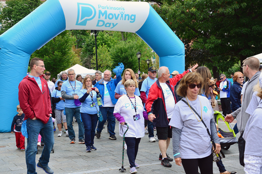 Pictured is a scene from last year's event, courtesy of the Parkinson's Foundation, Western New York Chapter.