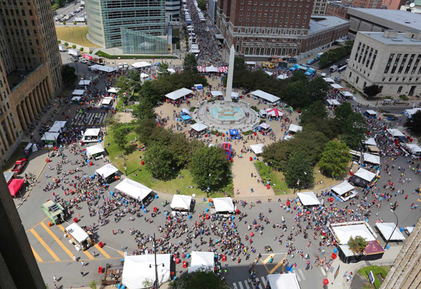 An aerial view of the Taste of Buffalo. (Photo by Bill Wippert)