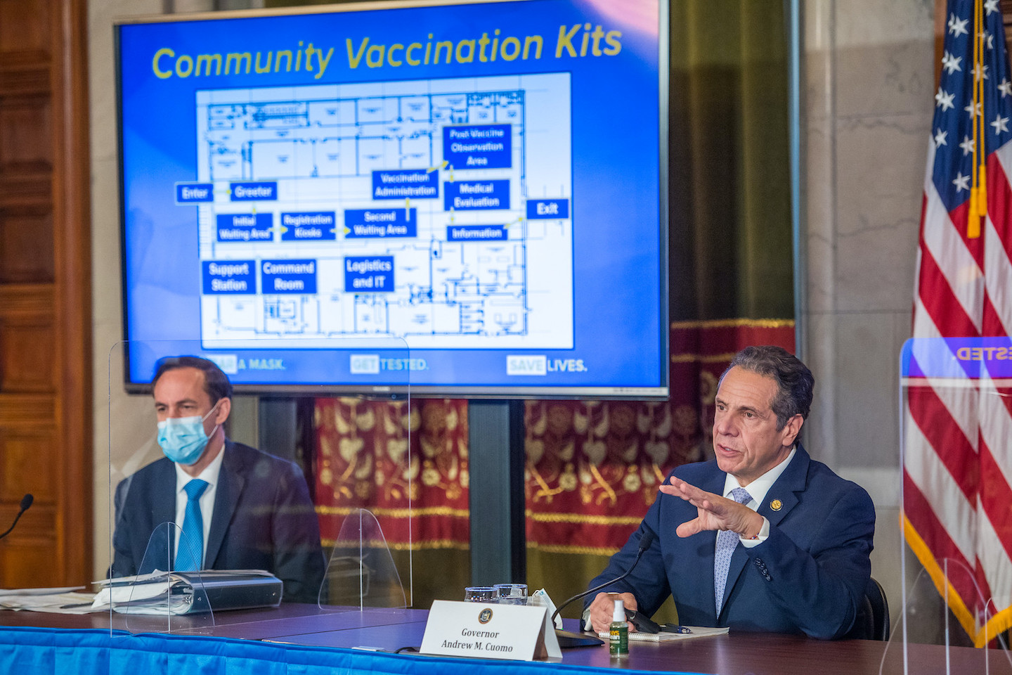 Gov. Andrew Cuomo announces New York has administered 38,000 doses of the COVID-19 vaccine - the highest total in the nation.