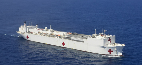 USNS Comfort (Image courtesy of Gov. Andrew Cuomo's office)