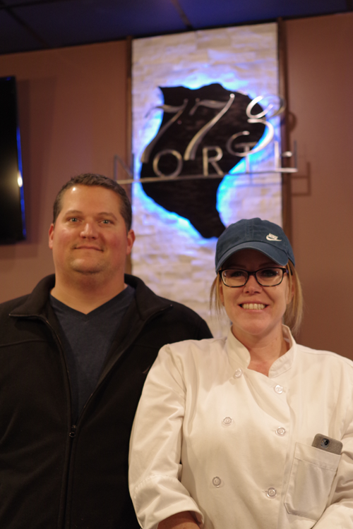 Christy and Jason Zippier are the owners of 773 North, Grand Island's newest restaurant, which will have a grand opening Jan. 31. (Photo by Larry Austin)