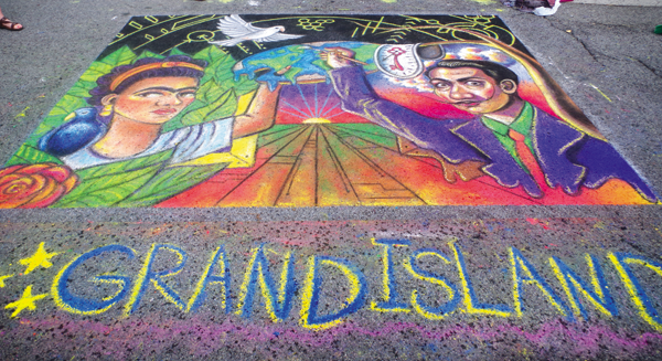 Grand Island High School's mural addressed the theme `Interconnectedness.`