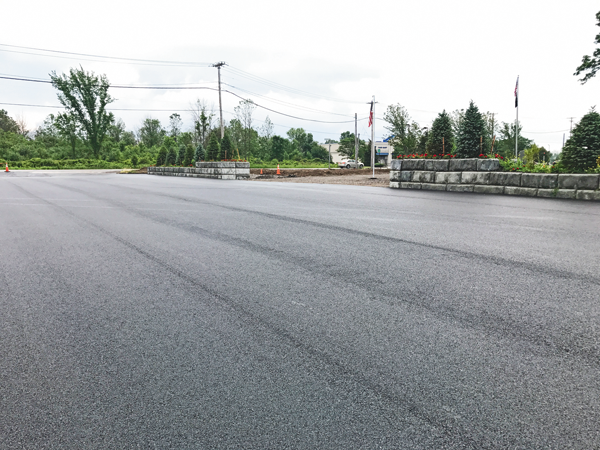 A newly paved parking area is the latest upgrade to DeGlopper Park at the intersection of Baseline Road and Grand Island Boulevard.