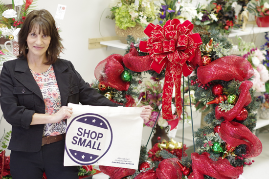Andi LaMar of Silk Florals in the Grand Island Plaza is one of many Island entrepreneurs encouraging their neighbors to shop small on Small Business Saturday, Nov. 25. (Photo by Larry Austin)