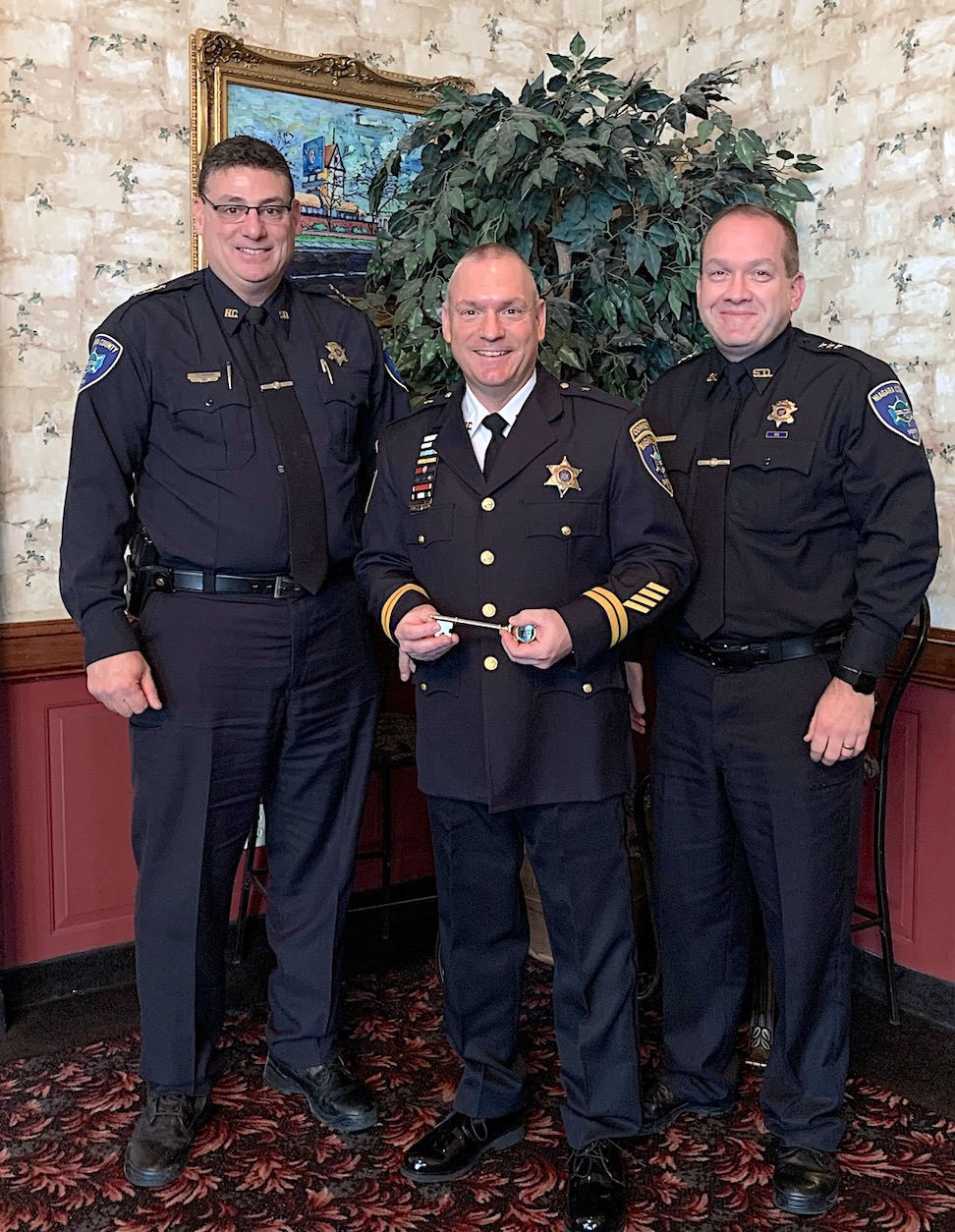 From left: Niagara County Sheriff James R. Voutour, award-winner Deputy Chief Daniel Engert and Undersheriff Michael J. Filicetti. (Submitted photo)