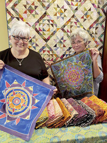 Pictured are Kenan Quilters Guild members Dotti Timkey and Donna Kathke. (Submitted photo)