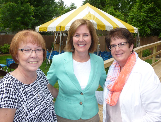 From left: Cindra Enzinna, Lockport CARES board; Lockport Mayor Anne McCaffrey; and Ruth Verretti, Lockport CARES board member.