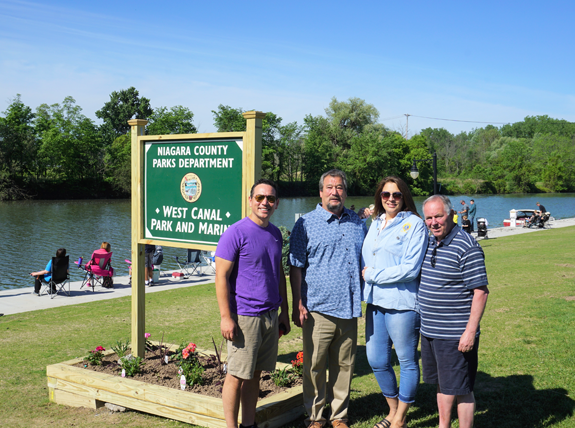 Pictured from left: Pendleton councilmen Todd Ostrowski and Dave Leible, Town Clerk Debbie Maurer, and Niagara County Legislator Tony Nemi.