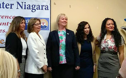 Women United of Greater Niagara officially launched earlier this month. From left: President Joanne Beaton, United Way of Greater Niagara President Connie Brown, Vice President of Membership Amanda Irons-Rindfleisch, Vice President and Secretary Camille Sarkees-Brown and Erika Kastel, director of resource development at United Way of Greater Niagara.