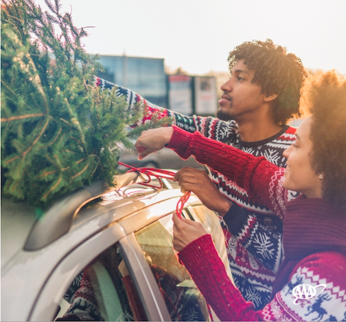Losing a real Christmas tree on the drive home is more common than you think! AAA's latest survey found 16% of Americans who plan to buy a real Christmas tree this year have had one fall off or out of their car in the past. Get your tree home safely by making sure its secure. (AAA photo)