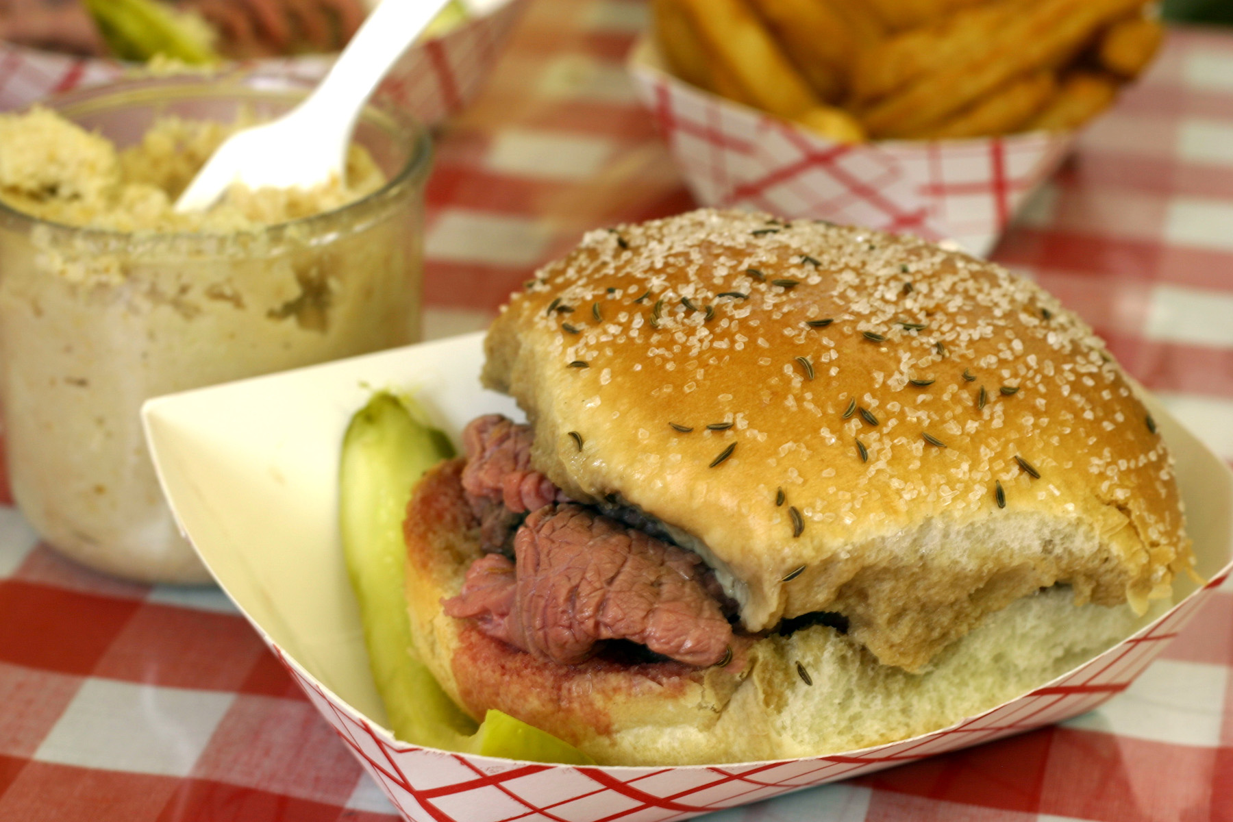 Buffalo is home to the world's best beef on weck. (Photo courtesy of Nickgray, used under Wikipedia Creative Commons)