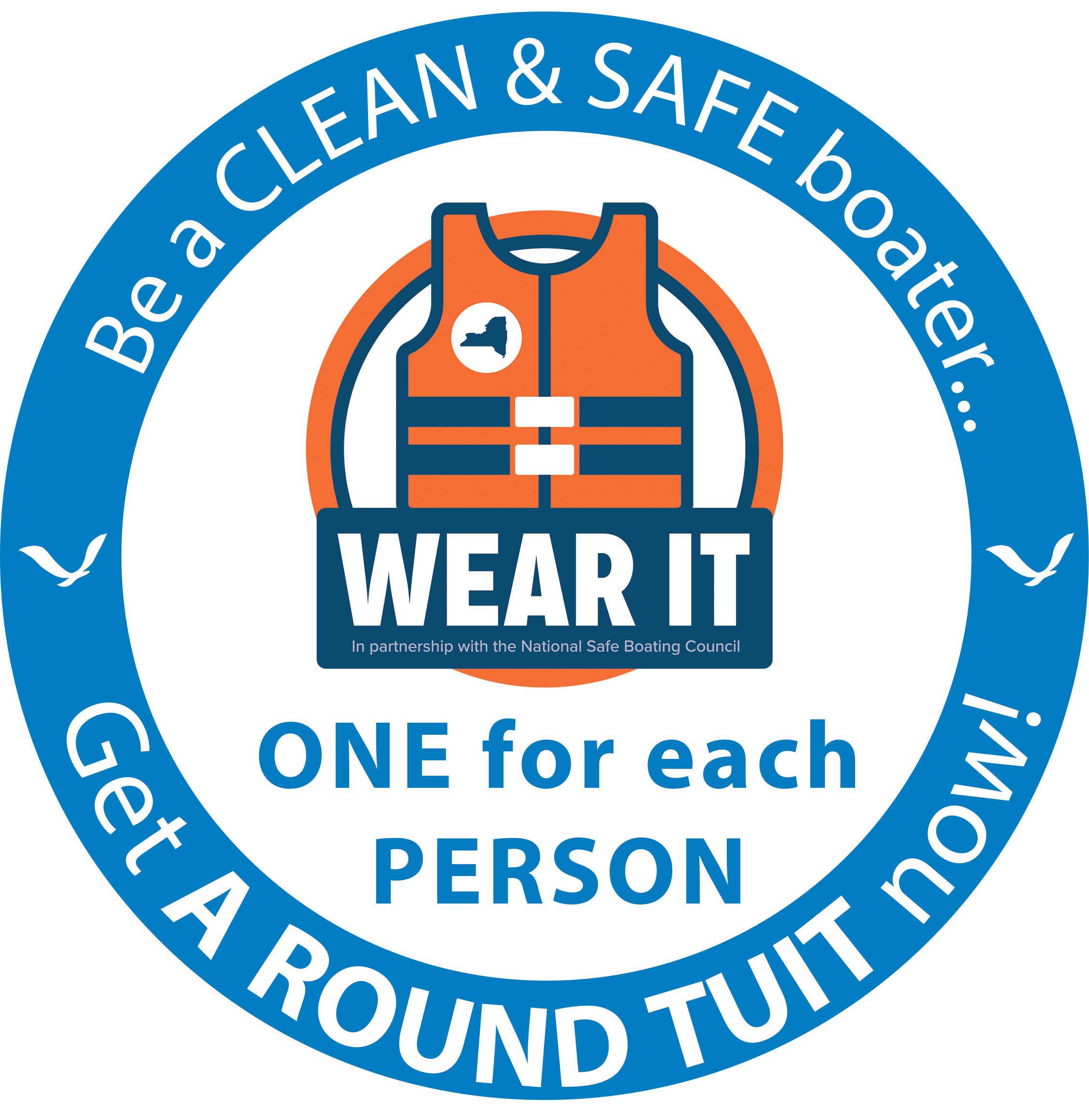 New York Sea Grant reminds boaters to wear a PFD while on the water this autumn.