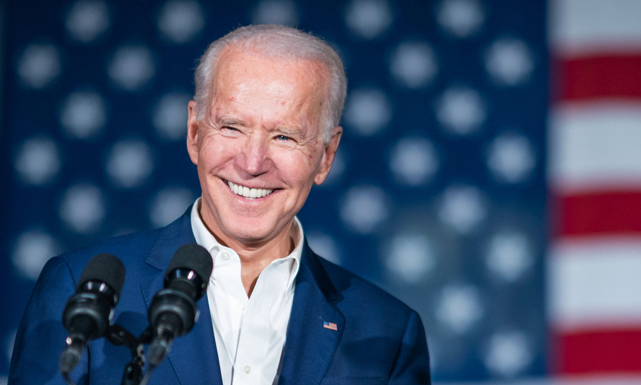 President Joe Biden speaks at an event in Jackson, Mississippi, standing in front of an American flag. (File photo courtesy of the White House)