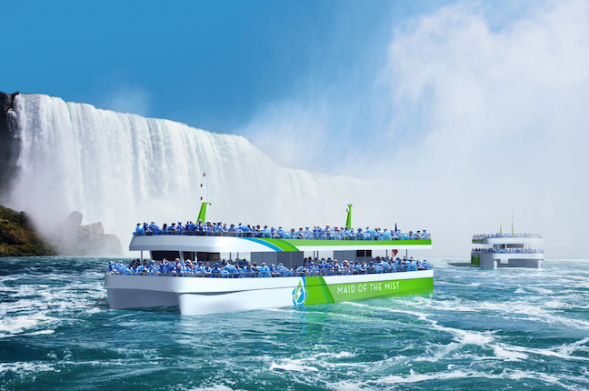 An artist's rendering of the new Maid of the Mist boat.