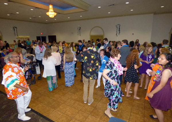Dancers take the floor at the HANCI `Senior Prom.`