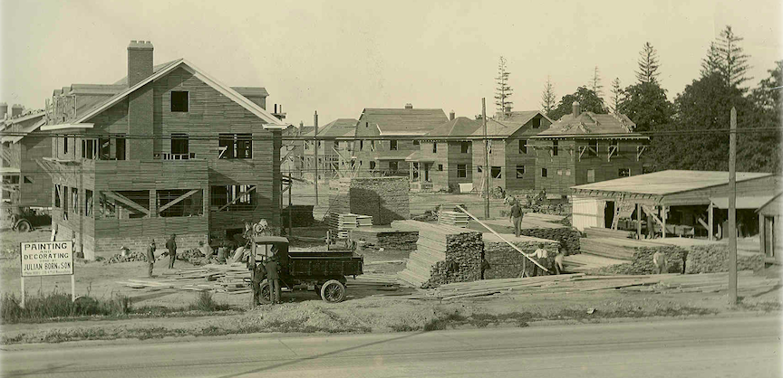 International Paper Company houses under construction at Buffalo Avenue and 68th Street. (Submitted by the author)