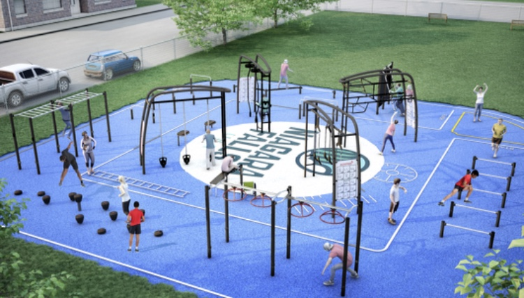 A park rendering provided by Niagara Falls Community Development.
