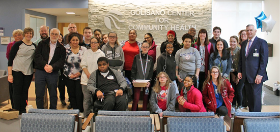 Students from Niagara Falls High School, Starpoint High School, Lockport High School and Oakfield-Alabama Middle-High School learned about career choices available to them in the health care field during a recent Mentoring Day at Niagara Falls Memorial Medical Center and the Golisano Center for Community Health.